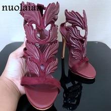 24a90b43701 Brand Womens Pumps Leaf Flame High Heel Pumps Shoes For Women Sexy Peep Toe High  Heels