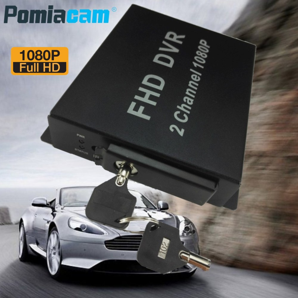 5pcs/lot 2CH Mobile DVR FHD MDVR 2 channel 1080P AHD DVR Digital Video Recorder for Vehicle Taxi Bus support Max.128GB SD card inexpensive 4 channel mdvr car vehicle dvr for taxi bus with 4 pcs 5 meters