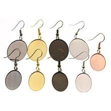 10pcs  13x18mm 18x25mm Oval Blank Earring Stud Base for Jewelry Findings Earring Hook Settings Cabochons Base DIY Ear Jewelry