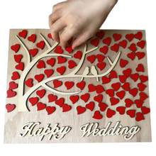 Unique Tree Wedding Guestbook Personalized 3D Wooden Wedding Guest Book Wedding Decor(China)