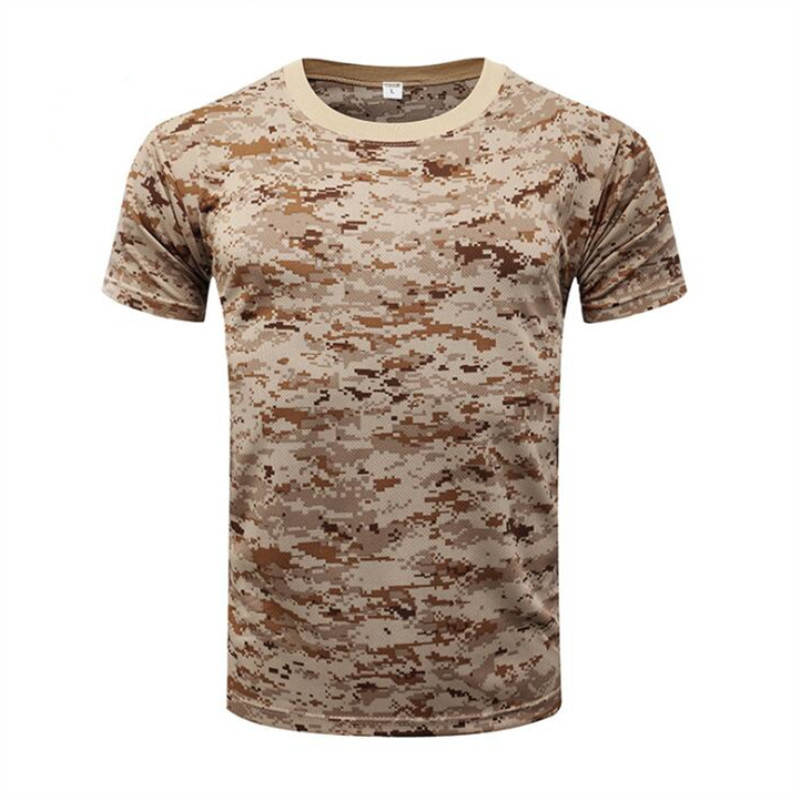 2018 Men Camouflage Quick Dry Breathable T-Shirt Tights Army Tactical T-shirt Mens Compression Shirt Fitness Summer Body Bulding