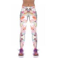 NEW KYK1077 Sexy Girl Women Flower Peony 3D Prints High Waist Polyester Fitness Women Leggings Jogger Pants Plus