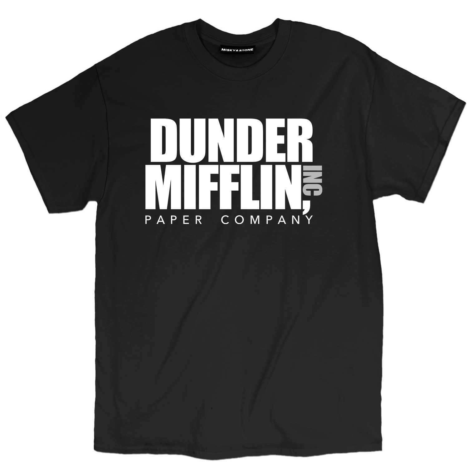 2019 Men T Shirt Fashion Summer Dunder Mifflin Inc Paper Company Funny Pop Culture Tv Show Tee Shirt Discounts Sale