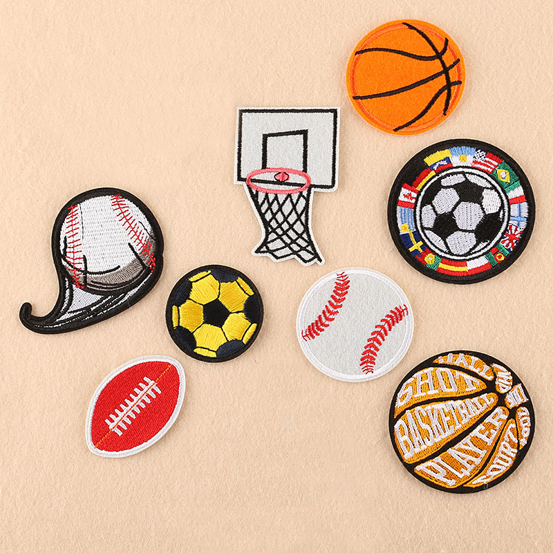 I LOVE BASKETBALL HOOP NET Embroidered Iron Sew On Cloth Patch Badge  APPLIQUE
