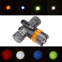 Check Price XML T6 2000 Lumens 3 Modes LED Head Lamp Zoomable Focus Headlight Colorful Bicycle Light Spotlight For Hunting   CL