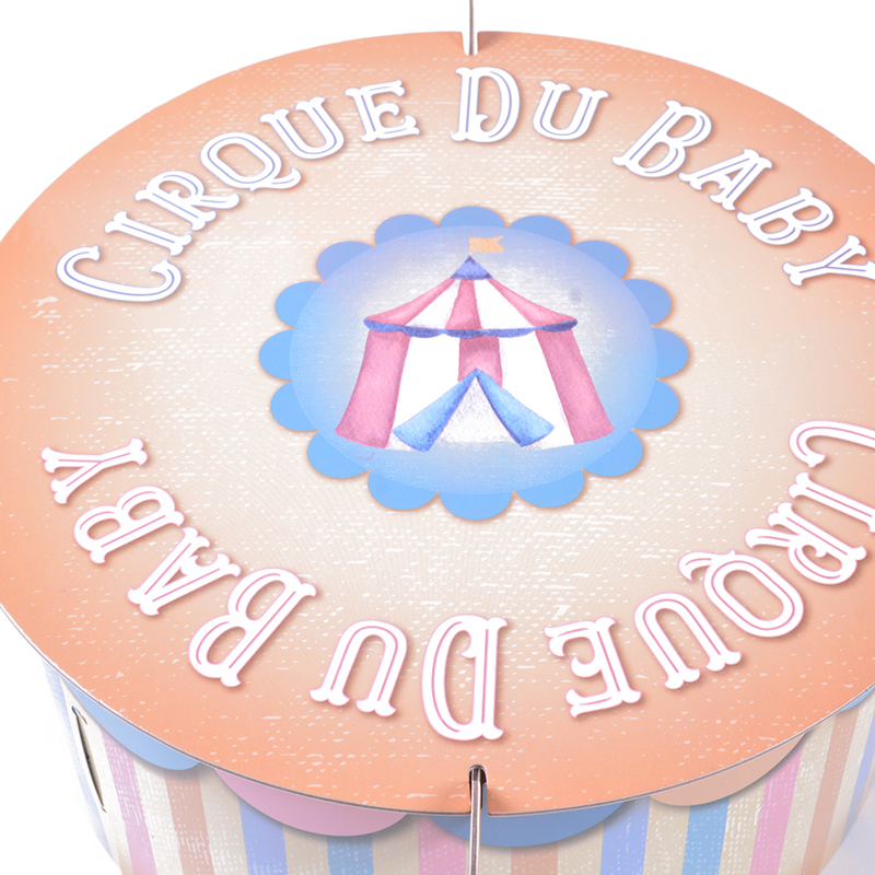 Circus Theme Party Cupcake Stand Cute Animal Tableware Baby Shower Kids Boy Girl Cake Topper Birthday Decoration Supplies In DIY Decorations
