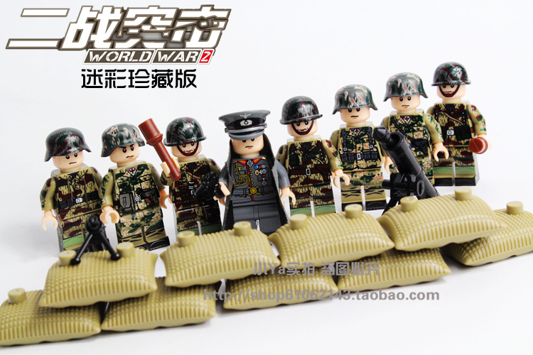 Wholesale World War 2 German Assault Special Force Military Building Blocks Toy Gift Army Solider Bricks Compatible with Lego kazi 82006 world war classical german air force model military building blocks educational toy fw190 fighter plane for kids