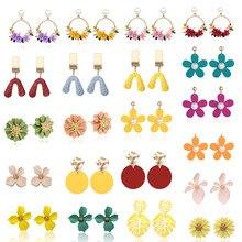 2019 Earring Korean Petal Acrylic Earrings summer beach for women accessories Wholesale jewelry Flower