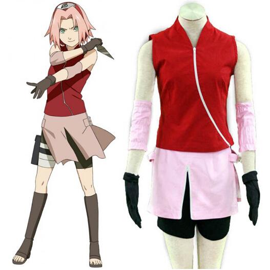 Shippuden Naruto Sakura Haruno Cosplay Costume