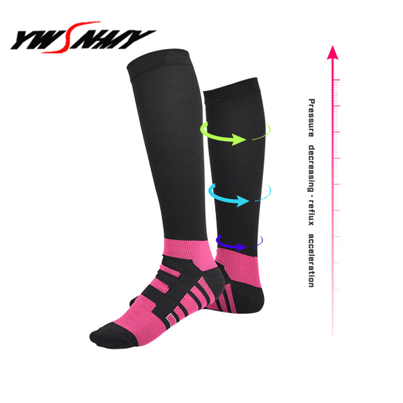 Expressive Unisex Compression Socks Women Men Leg Support Stretch Anti Fatigue Pain Relief Knee High Stockings 15-20 Mmhg Graduated Socks Fine Workmanship Men's Socks