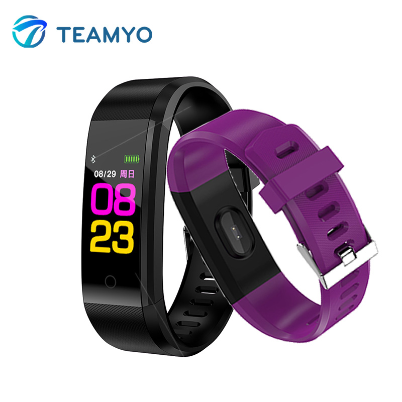 Teamyo 0.96 Color Screen Smart Band Heart Rate Monitor Pedometer Sports Fitness Bracelet Blood Pressure Bracelet Fitness Tracker