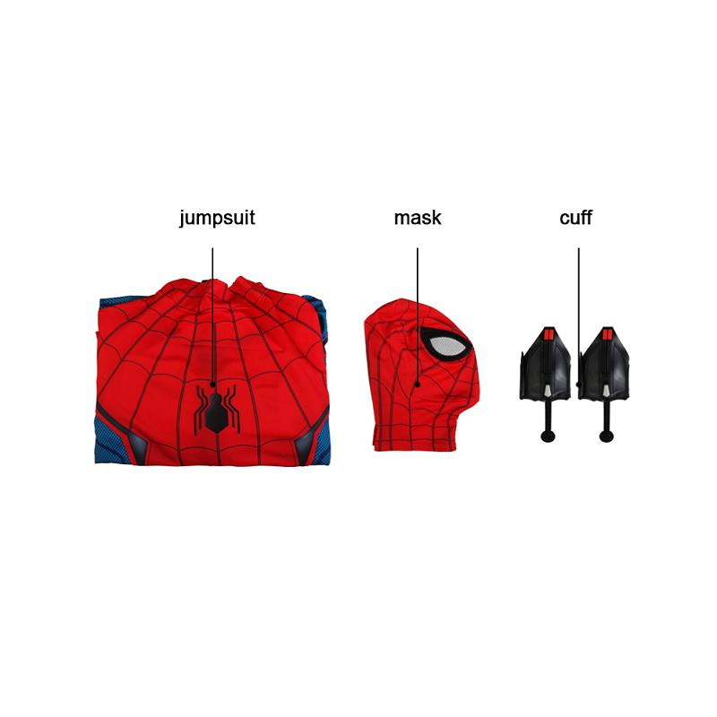 Image 5 - In Stock Spiderman Peter Parker Cosplay Spider Man Homecoming Costume Jumpsuit Zentai Adult Men Superhero Halloween Party Outfit-in Movie & TV costumes from Novelty & Special Use