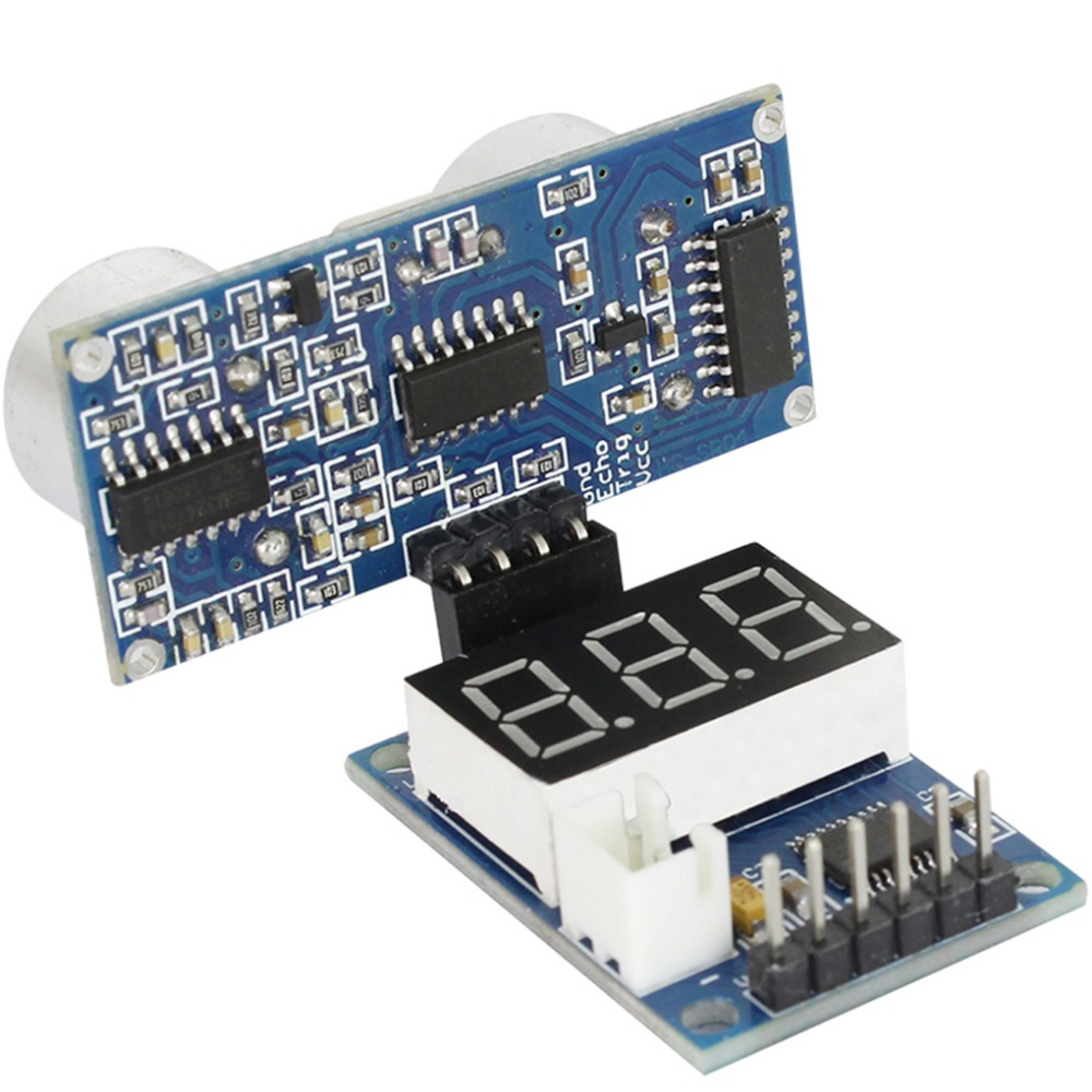 Ultrasonic Distance Measurement Module Test Board to Provide 5V Test Board Test HC-SR04 Display Range Finder