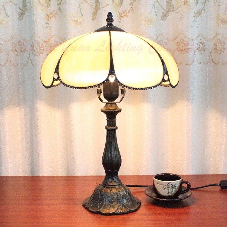 12 дюймов плоти страна цветы Тиффани настольные лампы страна Стиль пятнистости Стекло лампы для Спальня ночники E27 110- 240 В