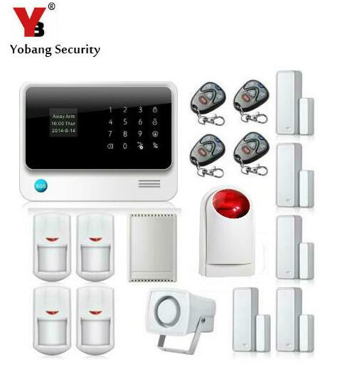 Yobang Security WiFi GSM SMS alarm Russian English French Spanish Swedish Dutch Voice prompt alarm system home alarm цена и фото