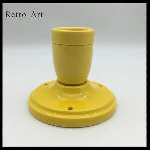 Image 1 - Prosty E27 E26 ceramiczny wisiorek kinkiet sufitowy porcelanowy wisiorek przewód do lampy zestaw