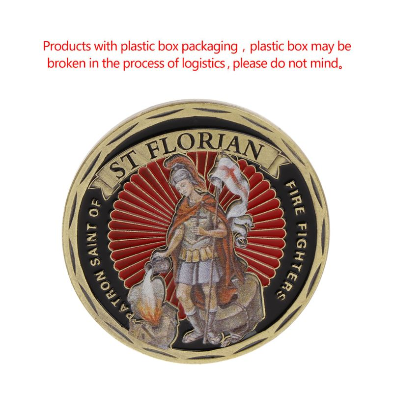 Commemorative Coin America Fire Control Protection ST Florian Collection Art Crafts Gifts Souvenir Collectible Coins New Quality