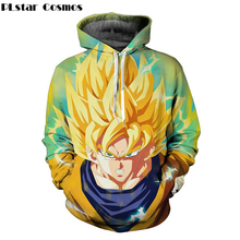 PLstar Cosmos Classic anime Dragon Ball Z Men Women Hooded Outerwear Handsome Goku 3D All Over Print Pullover casual Hoodies