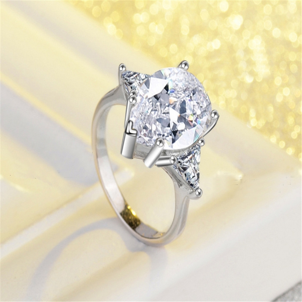 Sale Wedding ring genuine fashion special offer romantic personality suitable for Swarovski