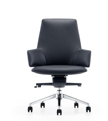 Leather boss chair reclining computer chair home modern minimalist conference chair designer office chair.