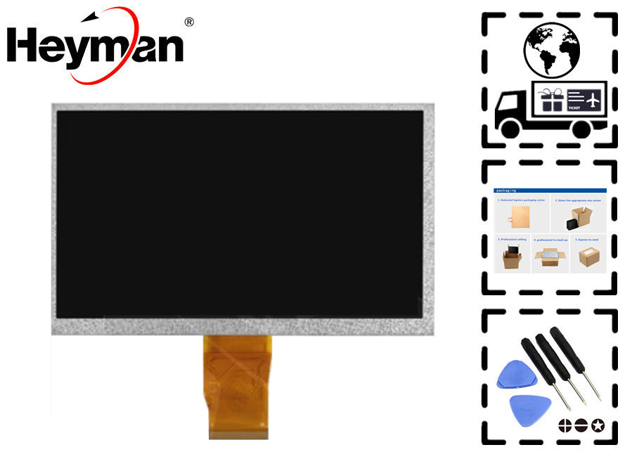Heyman 7''size LCD display screen KR070PA6S/FPC-BL70005 V1 for Wexler Book T7003b E-Reader Tablet PC Replacement parts $a 7inch touch screen hs1273 hs1275 hs1283a hj006gg00a fpc gt706hxs yld ceg7253 fpc a0 hc184104a1 fpc005h v1 0 sg5984 fpc v1 1