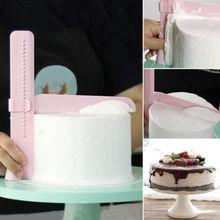 1 шт., регулируемое кухонное поворотное устройство для выравнивания сахара, инструменты для украшения торта, инструменты для самостоятельного изготовления пищевых продуктов, пластиковые инструменты для торта, кухонные аксессуары