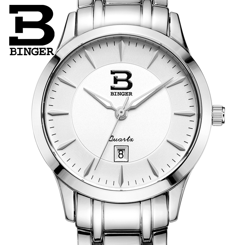 Switzerland Women's watches luxury brand BINGER quartz full stainless steel Water Resistance ultrathin Wristwatches B3005W pir motion sensor 20 led under cabinet light closet wall lamp led rigid strip bar light kitchen wardrobe emergency night light