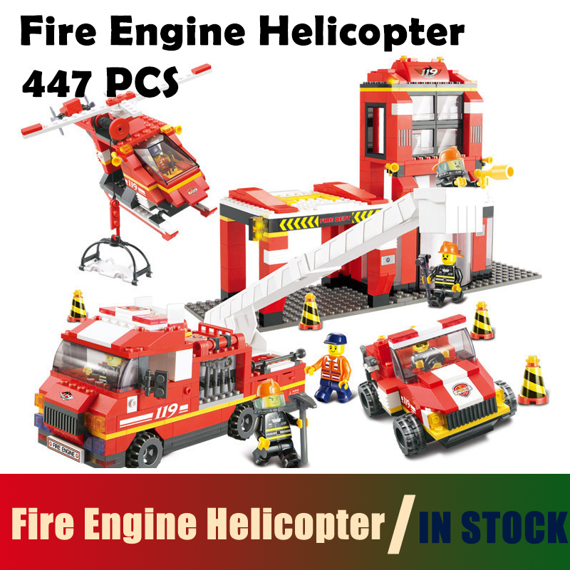 Compatible with lego city Model building kits fire station 0227 3D blocks Educational model & building toys hobbies for children
