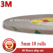 10x 5mm *55Meters 3M Double Sided 200MP 9495MP Tape for LCD Display, LED Strip PCB Bond, High Temp. Resist, Waterproof
