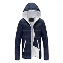 Winter Men Jacket 2017 Jackets High Quality Candy Color Warmth Mens And Coats Thick Parka Men Outwear XXXL Clothes