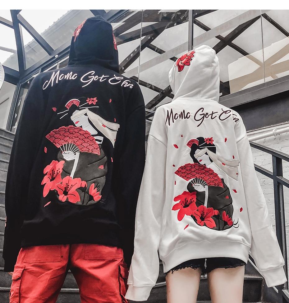 3d Fleur Sweat Pulls Pour Qa07 Mode Capuche À De Homme Imprimer Streetwear Harajuku blanc Noir Décontractée Décontractés Veste Japonais avxEvrP8qw