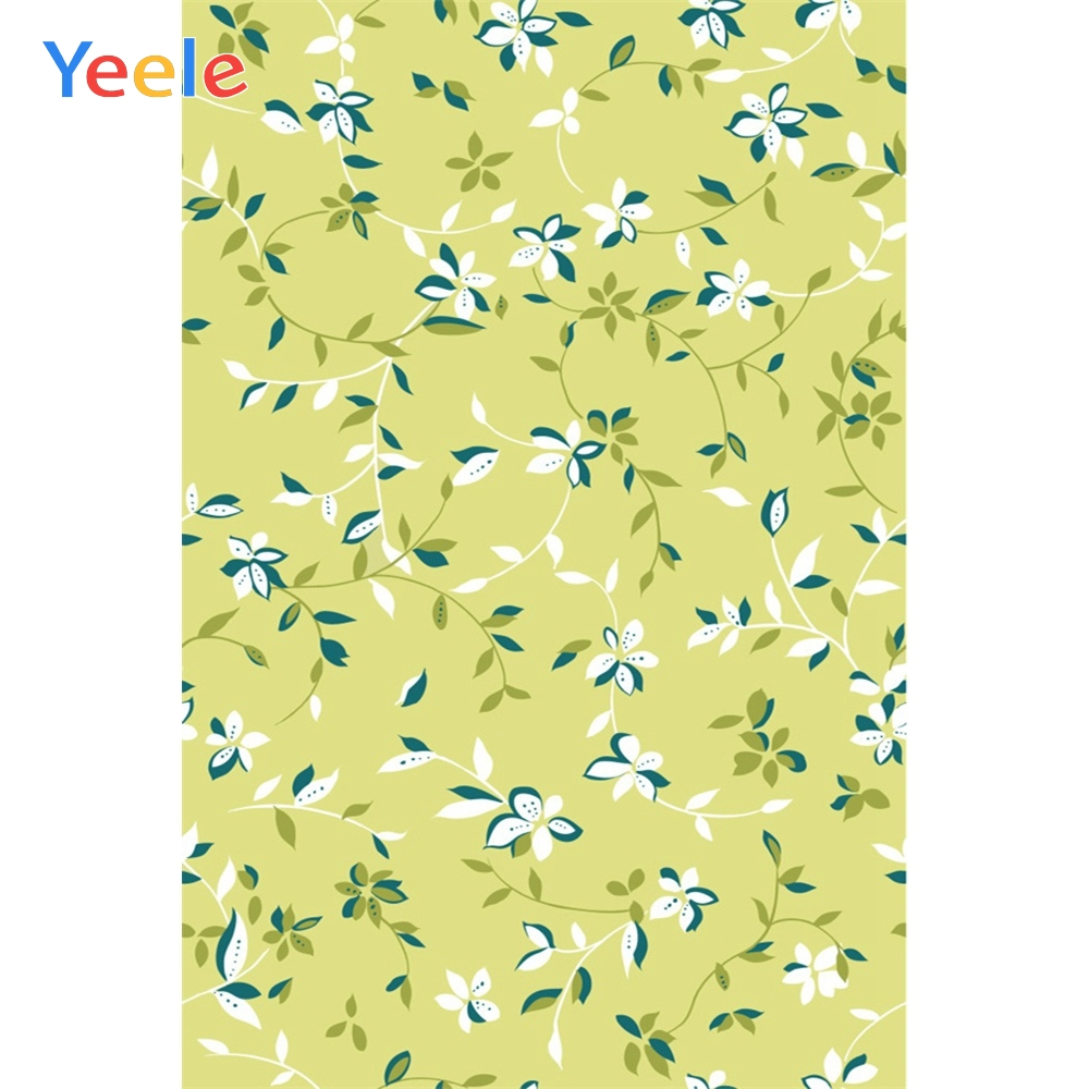 Yeele Flowers Pattern Green Leaves Party Decoration Photography Backgrounds Personalized Photographic Backdrops For Photo Studio in Background from Consumer Electronics