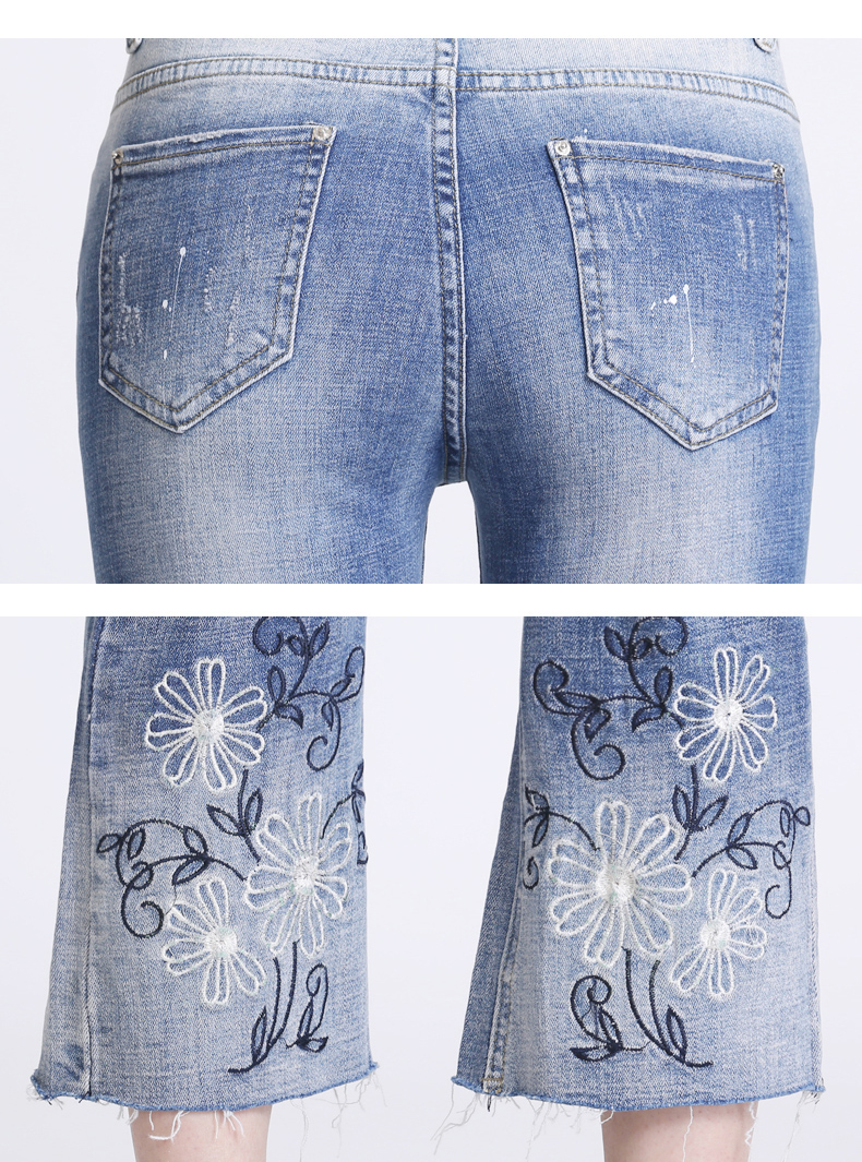 KSTUN Women Jeans with Emboridered Retro Blue Stretch Flare Pants Boot Cut High Waist Gloria Jeans Vintage Plus Size Femme Mujer 20