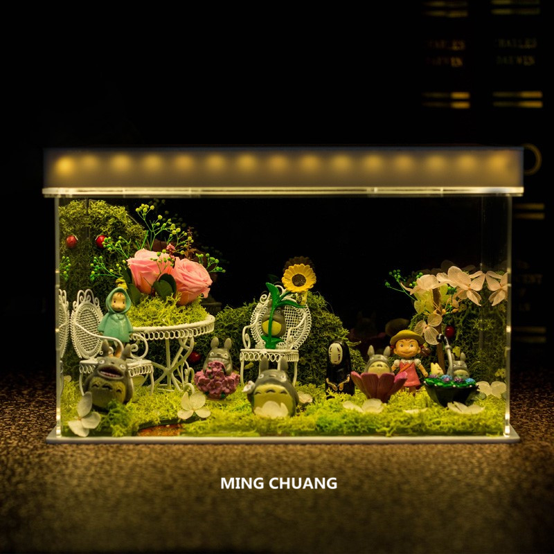 Фотофон Tonari No Totoro Grass Wall CAN Grass Wall Of Lang Moss со светодиодной подсветкой, пластик, подарок на день рождения, экшн фигурка J575