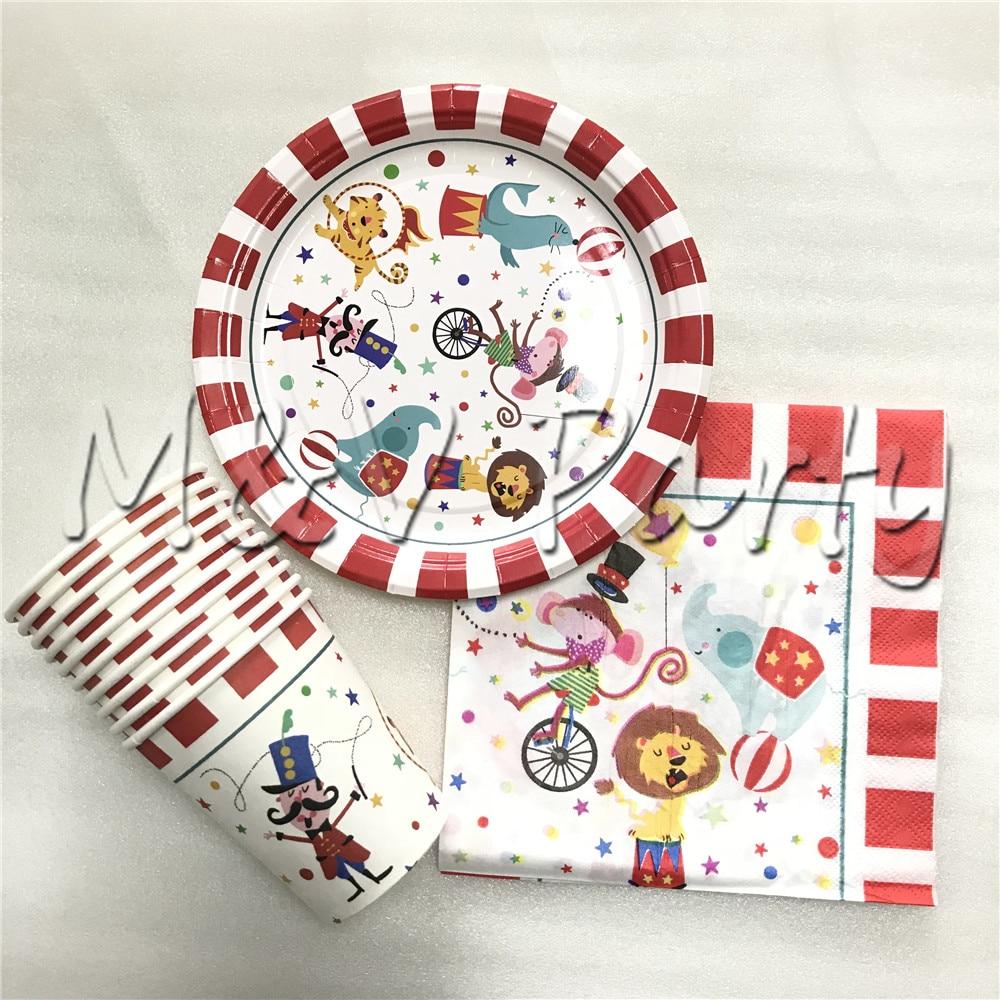 Creative Circus Theme Cartoon Birthday Party Tablewear