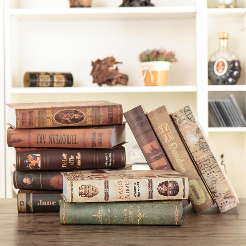 aliexpresscom koop 10cs oude vintage decor nep boek decoratie simulatie kamer hotel cafe plank boekenkast props van betrouwbare props leveranciers op