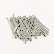 500 шт. никелированные стальные полосы для точечной сварки батареи никелированные стальные ленты полосы листы
