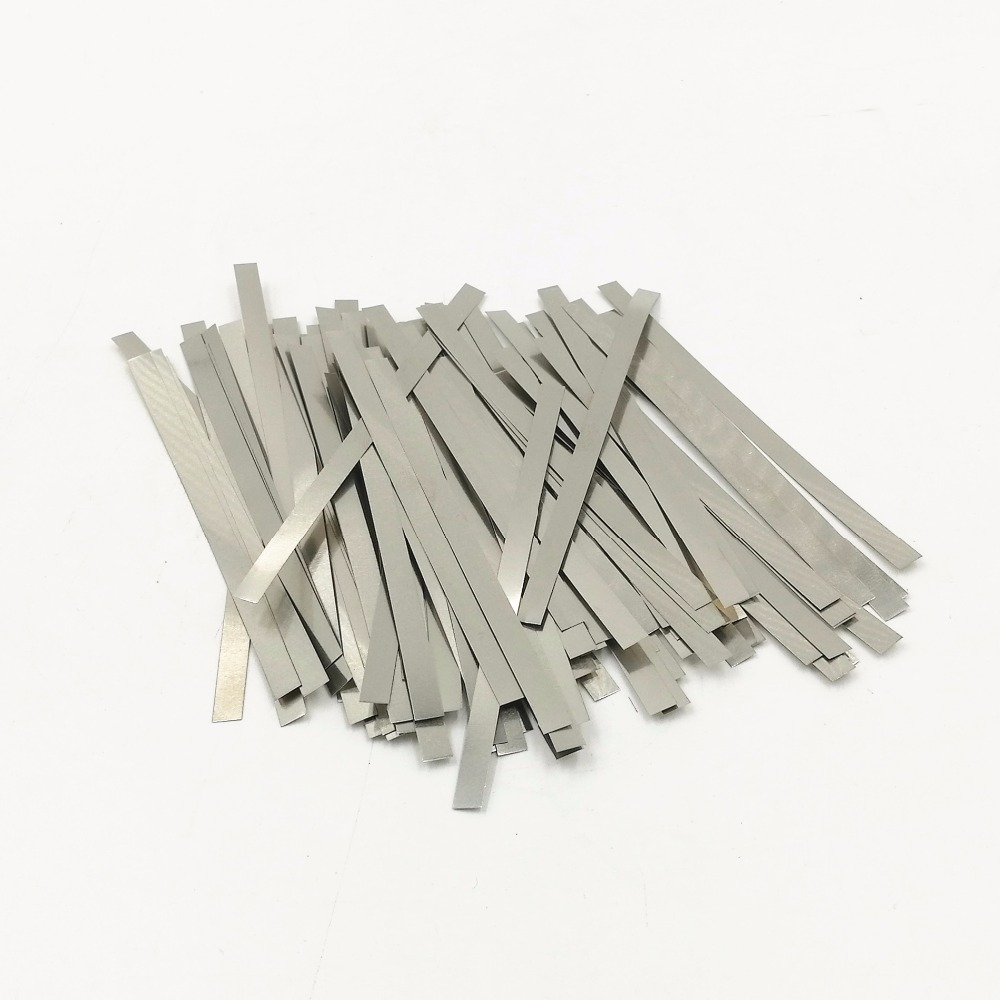 500pcs Nickel Plated Steel Strap Strip Sheets For Spot Welder Battery Welding Nickel Plated Steel Strap Strip Sheets