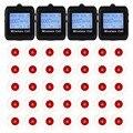 4 Reloj Localizador Receptor 35 Botón de Llamada 433 MHz Wireless Que Llama el Sistema de Megafonía Invitado Restaurante Localizador de Espera Equipo F3258