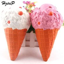 HziriP Large 20CM Ice Cream Squishy 5PCS Lovely Soft Slow Rising Pink Simulation Food Model Toy Decoration Kids For Gifts(China)