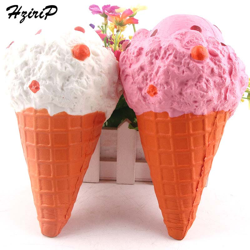 HziriP Large 20CM Ice Cream Squishy 5PCS Lovely Soft Slow Rising Pink Simulation Food Mo ...