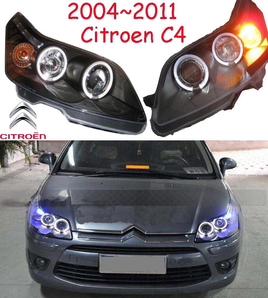 Citroe C4 headlight,2004~2011,Fit for LHD,Free ship!Citroe C4 fog light,2ps/set+2pcs  Ballast;C-Quatre,Elysee;C2 headlight mitsubish grandis headlight 2008 fit for lhd