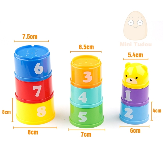 8Pcs Foldable Stack Cup Tower