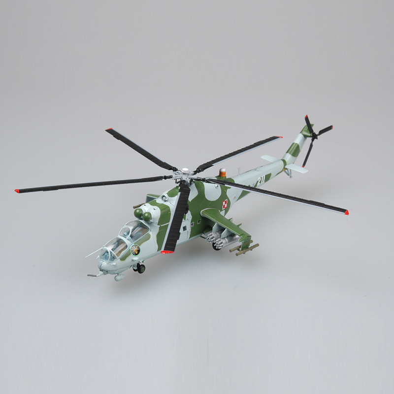 Easy Model Air Force Mi-24 Helicopter Porland 1/72 Scale Finished Model Toy For Collect Gift 37038