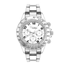 Wealthstar watches Luxury famous brand DATE Watches Men female sports Stainless steel Wrist Watches Relogio Femininos