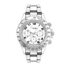 Wealthstar watches Luxury famous brand DATE Watches Men female sports Stainless steel Wrist Watches Relogio Femininos