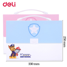 ФОТО cute paw patrol a4 expanding wallet with sticker for school kid office file document organizer stationery wj-smtg220