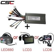 36 فولت 48 فولت 500 واط 25a دراجة كهربائية فرش 9 mosfet موجة جيبية تحكم مع kt LCD3 LCD8 عرض لوحة ebike الملحقات