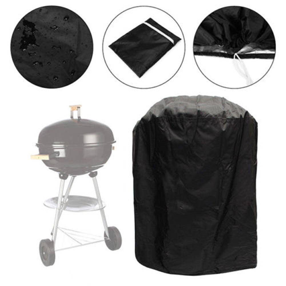 Round Waterproof BBQ Cover Bag Garden Patio Yard Kettle Grill Barbecue Protector