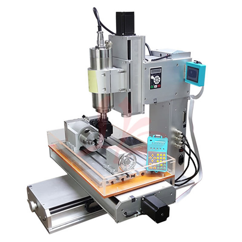 2.2KW / 1.5KW Spindle 4 Axis CNC Router 3040 Engraving Machine Ball Screw Table Column Type Woodworking Milling Machine new arrival 5 axis cnc wood carving machine precision ball screw cnc router 3040 milling machine